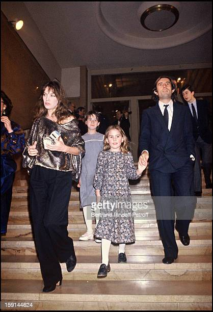 Charlotte Gainsbourg with her mother Jane Birkin Jacques Doillon and his daughter Lola attend the party following the premiere of the film 'Nestor...