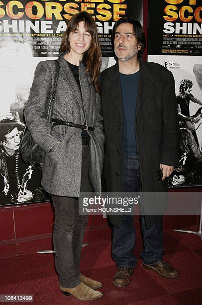 Charlotte Gainsbourg Yvan Attal in Paris France on April 09th 2008