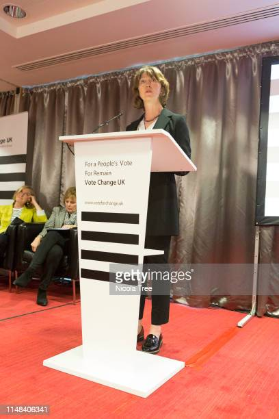 Charlotte Gath MEP candidate speaking at Change UK The Independent Group's West Midlands election rally on May 10 2019 in Birmingham United Kingdom