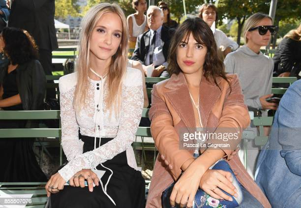 Charlotte Groeneveld and Jeanne Dumas attend the Nina Ricci show as part of the Paris Fashion Week Womenswear Spring/Summer 2018 on September 29 2017...