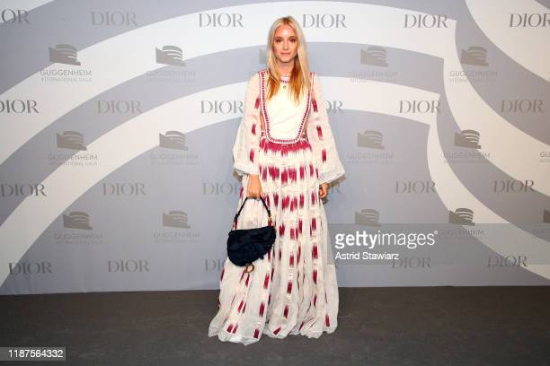Charlotte Groeneveld attends 2019 Guggenheim International Gala PreParty at Solomon R Guggenheim Museum on November 13 2019 in New York City
