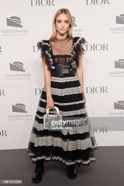 Charlotte Groeneveld attends the 2018 Guggenheim International Gala PreParty made possible by Dior at Solomon R Guggenheim Museum on November 14 2018...