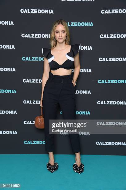 Charlotte Groeneveld attends the Calzedonia Summer Show on April 10 2018 in Verona Italy