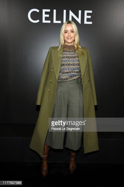 Charlotte Groeneveld attends the Celine Womenswear Spring/Summer 2020 show as part of Paris Fashion Week on September 27, 2019 in Paris, France.