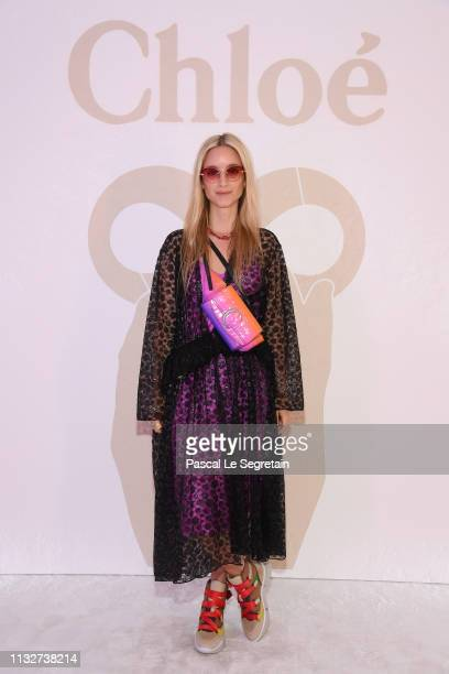 Charlotte Groeneveld attends the Chloe show as part of the Paris Fashion Week Womenswear Fall/Winter 2019/2020 on February 28 2019 in Paris France