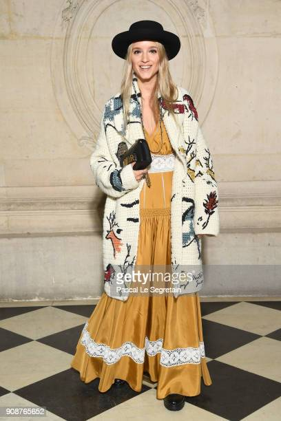 Charlotte Groeneveld attends the Christian Dior Haute Couture Spring Summer 2018 show as part of Paris Fashion Week on January 22 2018 in Paris France