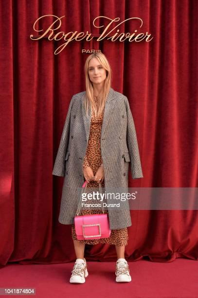Charlotte Groeneveld attends the Roger Vivier Presentation Spring/Summer 2019 during Paris Fashion Week on September 27 2018 in Paris France