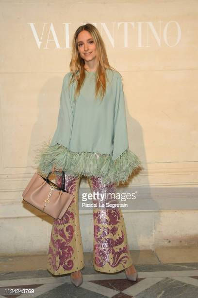 Charlotte Groeneveld attends the Valentino Haute Couture Spring Summer 2019 show as part of Paris Fashion Week on January 23 2019 in Paris France