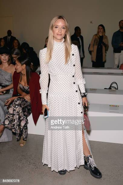 Charlotte Groeneveld attends Zimmermann fashion show during New York Fashion Week The Shows at Spring Studios on September 11 2017 in New York City