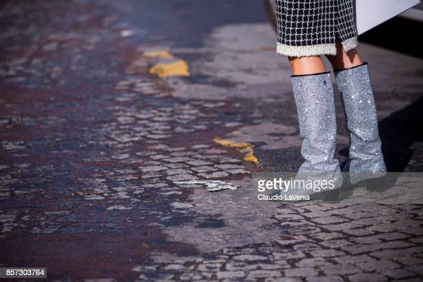 Charlotte Groeneveld is seen after the Chanel show during Paris Fashion Week Womenswear SS18 on October 3 2017 in Paris France