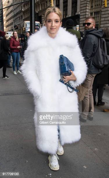 Charlotte Groeneveld is seen arriving to the Oscar de la Renta fashion show during New York Fashion Week at The Cunard Building on February 12 2018...