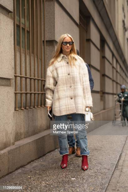 Charlotte Groeneveld is seen on the street during New York Fashion Week AW19 wearing Michael Kors on February 13 2019 in New York City