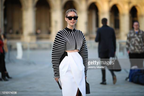 Charlotte Groeneveld is seen outside Louis Vuitton show during Paris Fashion week Womenswear Fall/Winter 2020/2021 Day Nine on March 03 2020 in Paris...