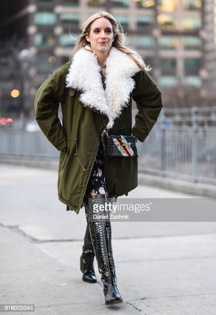Charlotte Groeneveld is seen outside the Ulla Johnson show during New York Fashion Week Women's A/W 2018 on February 8 2018 in New York City