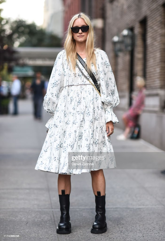 Street Style - New York Fashion Week September 2019 - Day 7 : Photo d'actualité