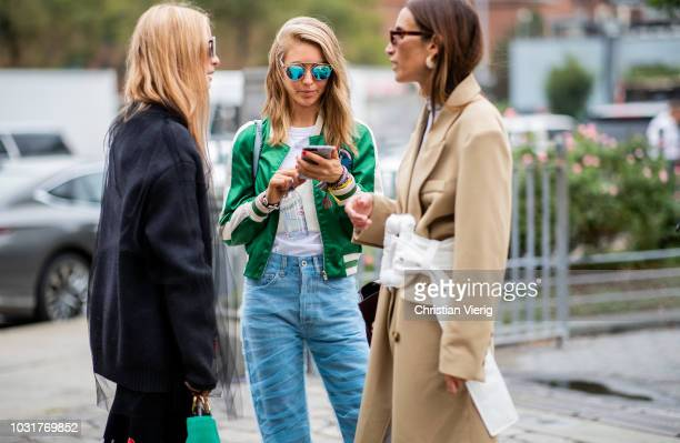 Charlotte Groeneveld Jessica Minkoff Chloe Harrouche outside Oscar de la Renta during New York Fashion Week Spring/Summer 2019 on September 11 2018...
