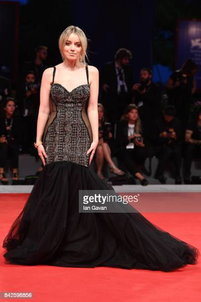Charlotte Groeneveld walks the red carpet wearing a JaegerLeCoultre watch ahead of the 'Three Billboards Outside Ebbing Missouri' screening during...