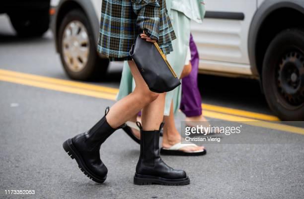 Charlotte Groeneveld wearing Khaite bag, boots seen outside Sies Marjan during New York Fashion Week September 2019 on September 08, 2019 in New York...