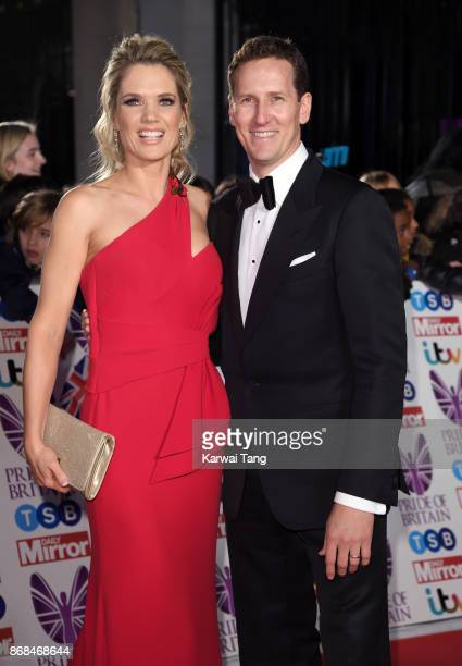 Charlotte Hawkins and Brendan Cole attend the Pride Of Britain Awards at the Grosvenor House on October 30 2017 in London England