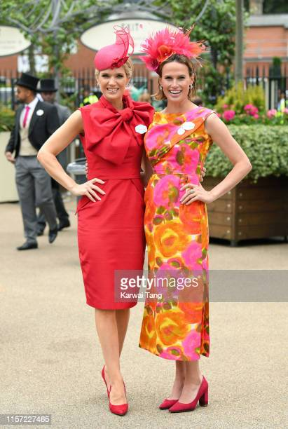 Charlotte Hawkins and Francesca Cumani attends day three Ladies Day of Royal Ascot at Ascot Racecourse on June 20 2019 in Ascot England
