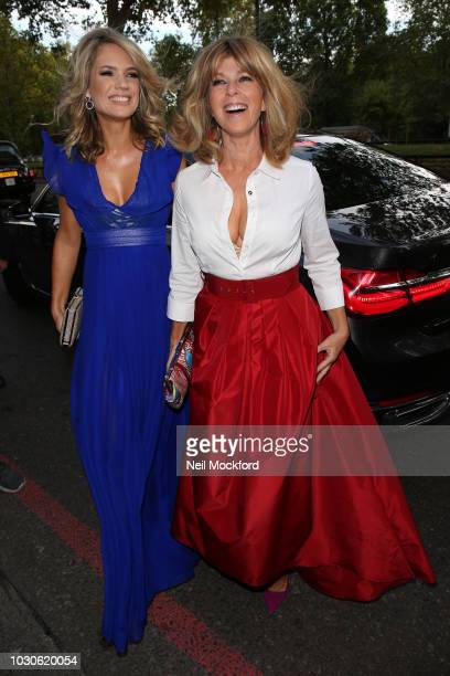 Charlotte Hawkins and Kate Garraway arrives for The TV Choice Awards at the Dorchester Hotel on September 10 2018 in London England