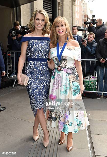 Charlotte Hawkins and Kate Garraway attends the TRIC Awards 2016 at Grosvenor House Hotel at The Grosvenor House Hotel on March 8 2016 in London...