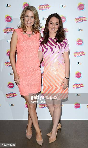 Charlotte Hawkins and Laura Tobin attend Lorraine's High Street Fashion Awards held at Vinopolis on May 21 2014 in London England