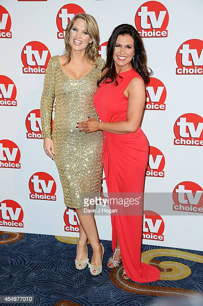 Charlotte Hawkins and Susanna Reid attend the TV Choice Awards 2014 at London Hilton on September 8 2014 in London England
