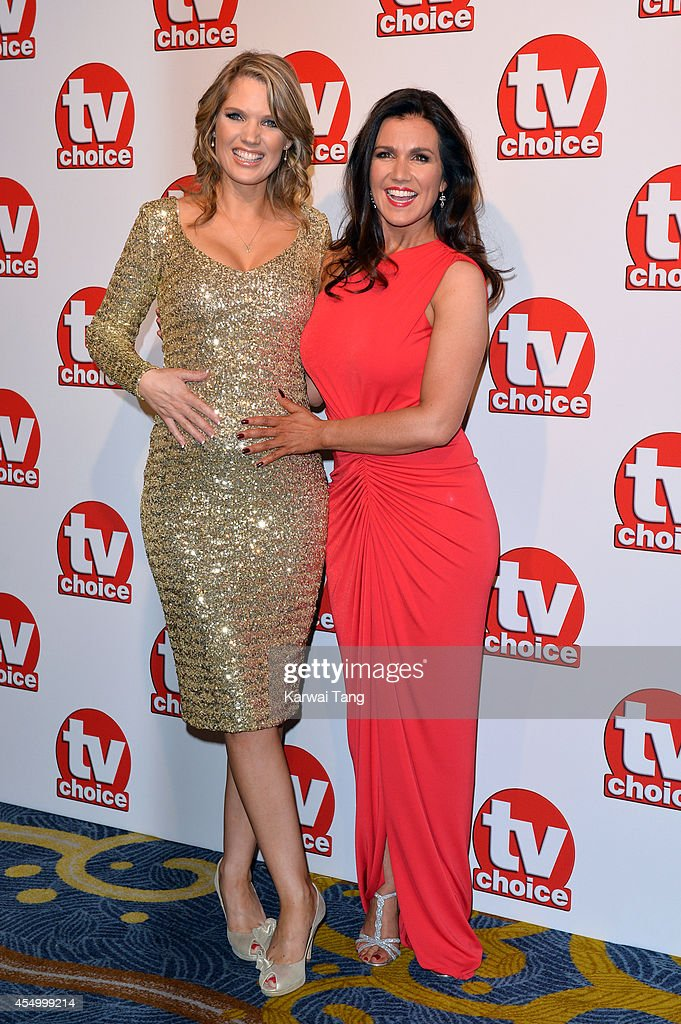 Charlotte Hawkins and Susanna Reid attend the TV Choice Awards 2014 at London Hilton on September 8, 2014 in London, England.