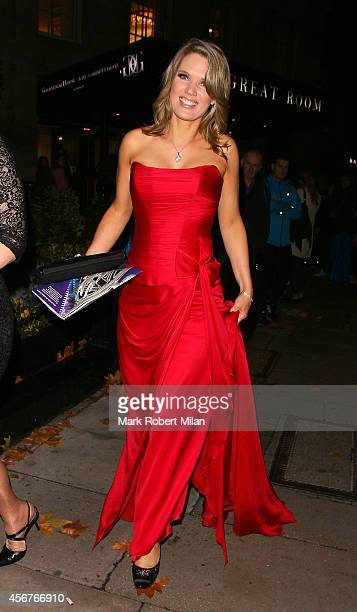 Charlotte Hawkins attend the Pride of Britain awards at The Grosvenor House Hotel on October 6 2014 in London England