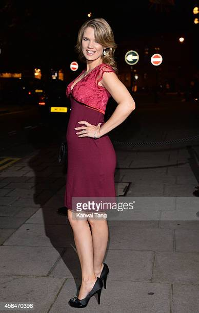 Charlotte Hawkins attends a celebration of Lorraine Kelly's 30 years in breakfast television at Langham Hotel on October 1 2014 in London England