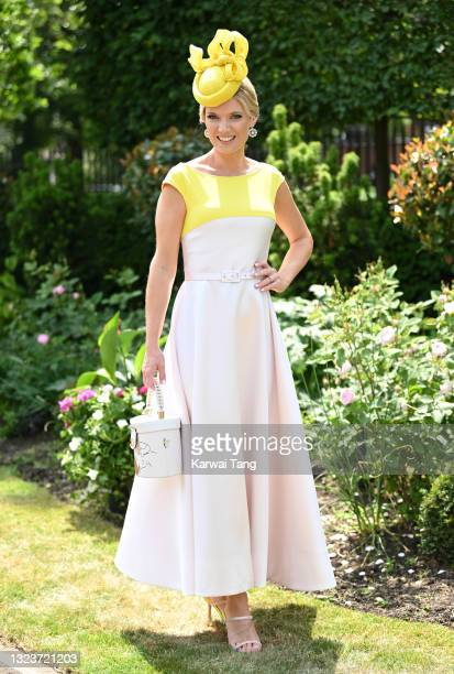 Charlotte Hawkins attends day one of Royal Ascot 2021 at Ascot Racecourse on June 15, 2021 in Ascot, England.