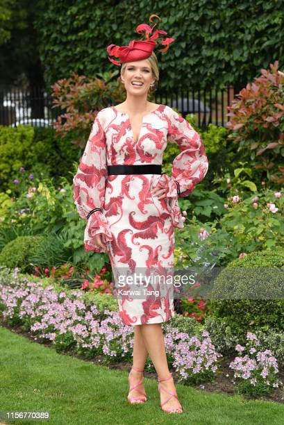 Charlotte Hawkins attends day one of Royal Ascot at Ascot Racecourse on June 18 2019 in Ascot England