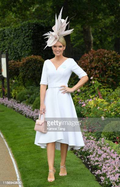 Charlotte Hawkins attends day two of Royal Ascot at Ascot Racecourse on June 19 2019 in Ascot England
