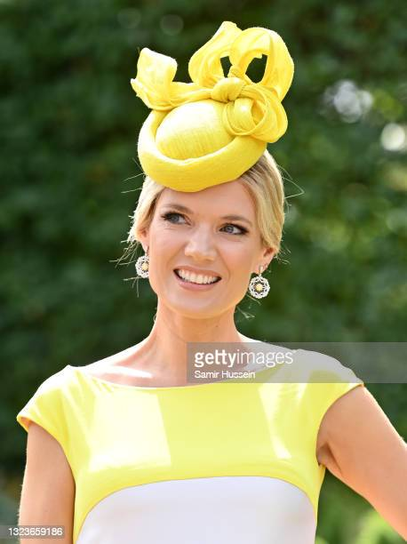 Charlotte Hawkins attends Royal Ascot 2021 at Ascot Racecourse on June 15, 2021 in Ascot, England.