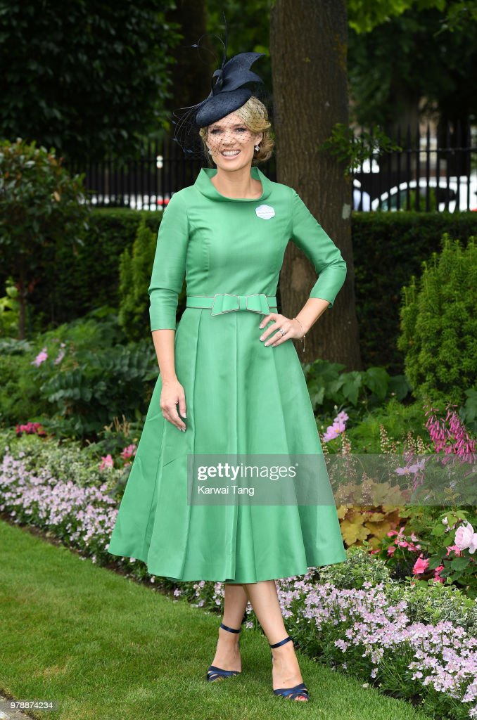 Charlotte Hawkins attends Royal Ascot Day 1 at Ascot Racecourse on June 19, 2018 in Ascot, United Kingdom.