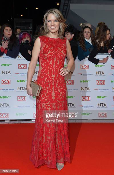 Charlotte Hawkins attends the 21st National Television Awards at The O2 Arena on January 20 2016 in London England
