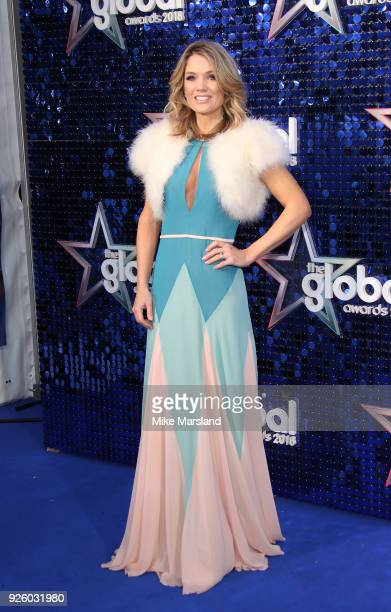 Charlotte Hawkins attends The Global Awards 2018 at Eventim Apollo Hammersmith on March 1 2018 in London England