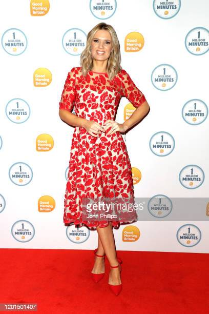 Charlotte Hawkins attends the Good Morning Britain 1 Million Minutes Awards at Studio Works on January 23 2020 in London England