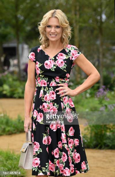 Charlotte Hawkins attends the RHS Chelsea Flower Show on September 20, 2021 in London, England. This year's RHS Chelsea Flower Show was delayed from...