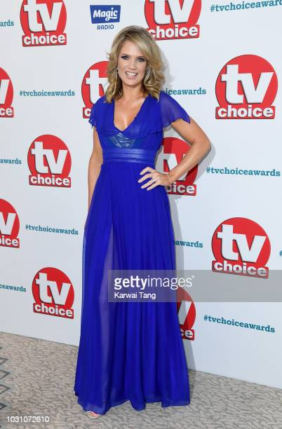 Charlotte Hawkins attends the TV Choice Awards at The Dorchester on September 10 2018 in London England