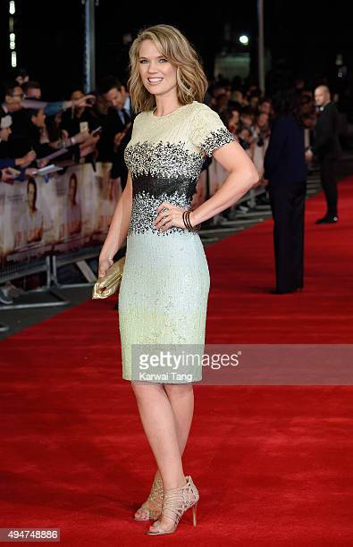 Charlotte Hawkins attends the UK Film Premiere of 'Burnt' at Vue West End on October 28 2015 in London England