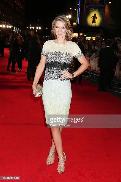 Charlotte Hawkins attends the UK Premiere of Burnt at Vue West End on October 28 2015 in London England