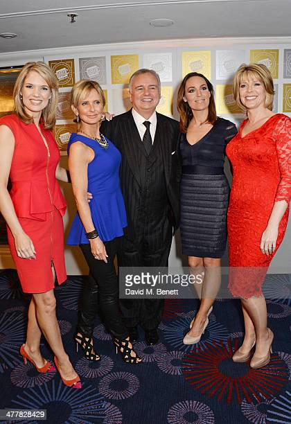 Charlotte Hawkins Jacquie Beltrao Eamonn Holmes Isabel Webster and Ruth Langsford attend the TRIC Television and Radio Industries Club Awards at the...
