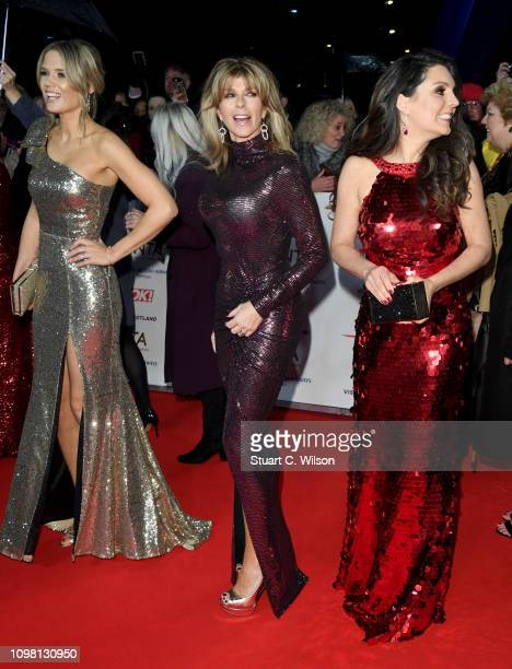 Charlotte Hawkins Kate Garraway and Laura Tobin attend the National Television Awards held at the O2 Arena on January 22 2019 in London England