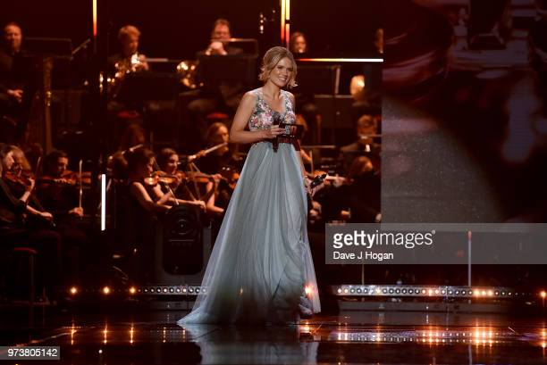 Charlotte Hawkins on stage during the 2018 Classic BRIT Awards held at Royal Albert Hall on June 13 2018 in London England