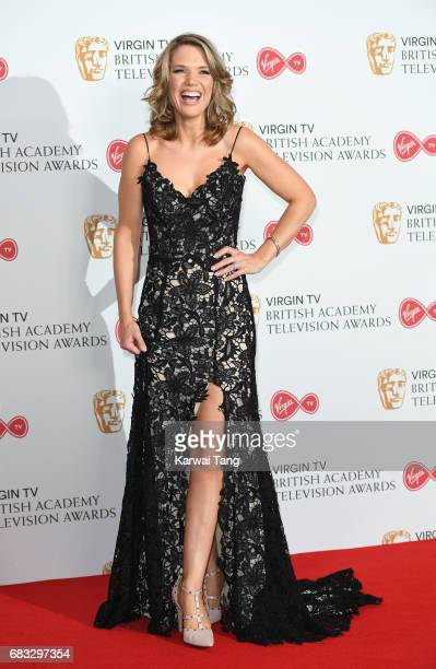 Charlotte Hawkins poses in the Winner's room at the Virgin TV BAFTA Television Awards at The Royal Festival Hall on May 14 2017 in London England