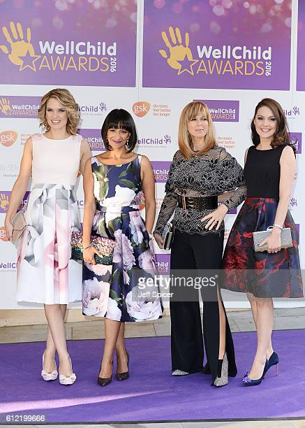 Charlotte Hawkins Ranvir Singh Kate Garraway and Laura Tobin attend the WellChild Awards at The Dorchester on October 3 2016 in London England