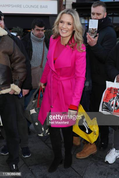Charlotte Hawkins seen arriving at Global Radio on January 30 2019 in London England