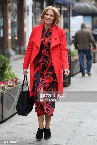 Charlotte Hawkins seen arriving at Smooth Radio Studios on November 06 2020 in London England